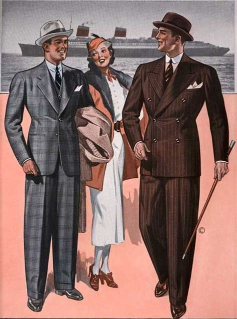 Suit Drape - the drape suit to popularity in the 1930s and