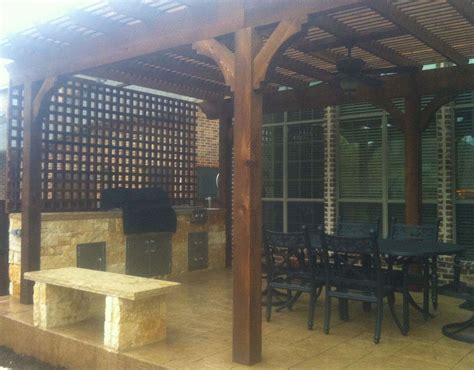 custom mckinney freestanding arbor patio
