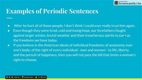 periodic sentence explanation youtube