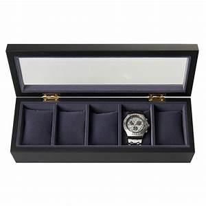 Boite De Montre : bo te de rangement personnalis e pour montres noire ~ Teatrodelosmanantiales.com Idées de Décoration
