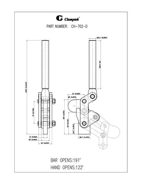 CH-70203, CH-702-D | Heavy Duty Weldables | Clamptek