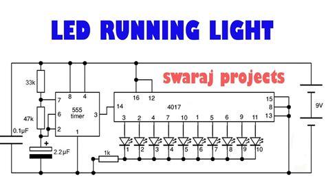Circuit Diagram Running Led Ic 4017