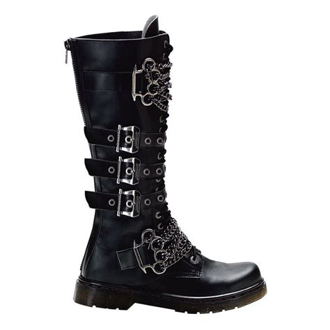 Gothic Boots Mens Combat With Brass
