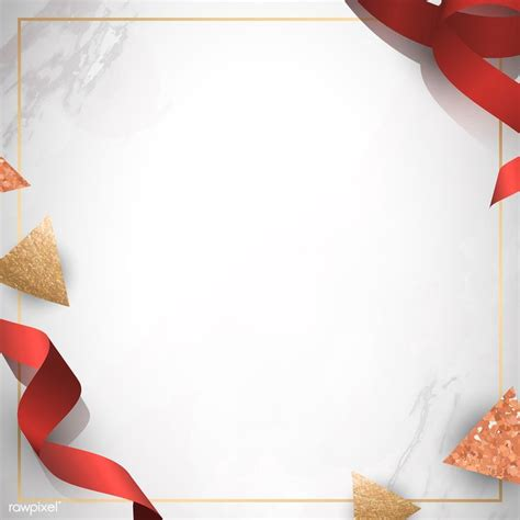 Download premium vector of Festive gold frame with red