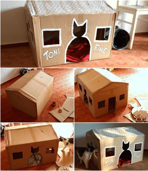 cabane pour chat fabriquer une cabane en pour chat