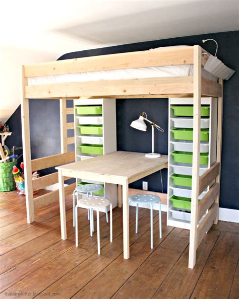 loft bed with desk plans diy loft bed with desk and storage