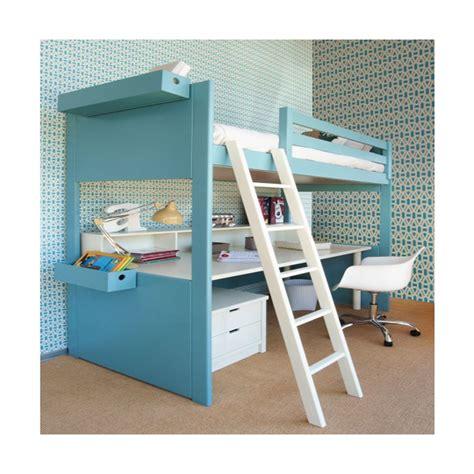 lit en hauteur avec bureau lit mezzanine avec bureau liso loft signé asoral
