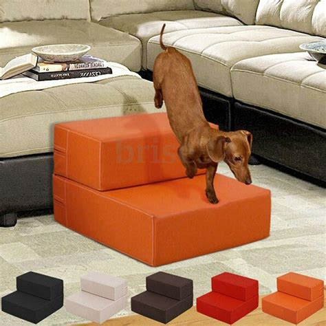 pet dog stairs cat leather portable covered folding step