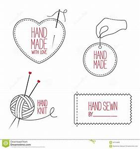 tailor and handmade emblems set stock vector image 53134880 With hand sewn labels
