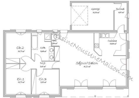 plan de maison plain pied gratuit 3 chambres plan de maison traditionnelle gratuit plan maison plain