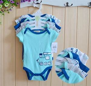 5pcs Baby Rompers Set ,Baby Hanging Short Sleeve Boys ...