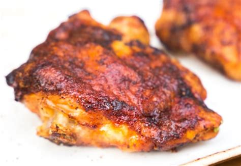 chicken air fryer recipe barbeque recipes crisplid bbq mealthy thighs print thigh fry directions