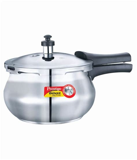 prestige deluxe alpha stainless steel cooker pressure base handi ltr outer lid baby plus cookers