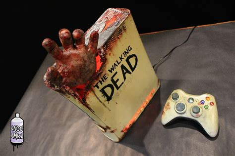 Xbox 360 The Walking Dead Red Ring Of Death Edition
