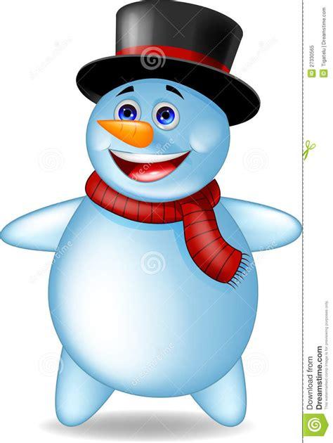 snowman cartoon stock vector illustration  cheerful