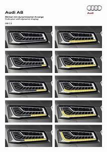 2014 Audi Matrix Led Headlight Teaser A8 Diagram