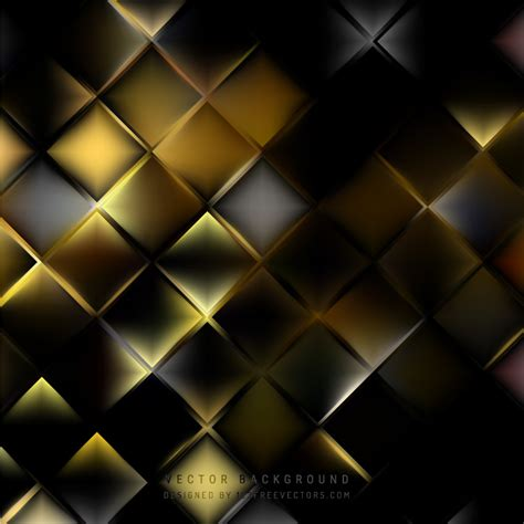 Abstract Black Yellow by Abstract Black Yellow Geometric Square Background
