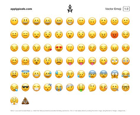 vector emoji icons easy edit scale iconset