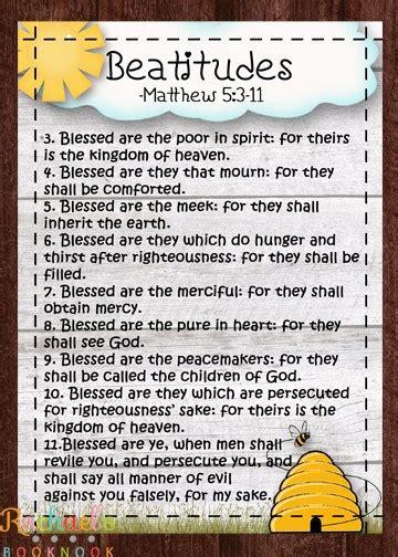 primary 7 lesson 10 the sermon on the mount beatitudes 281   Primary 7 Lesson 10 Beattitude handout flyer