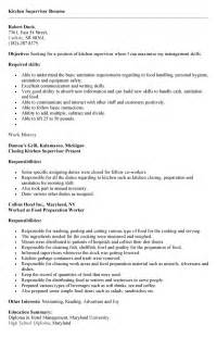 resume exle for kitchen resume ixiplay free