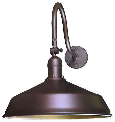 adjustable metal gooseneck barn light transitional