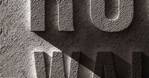 psd concrete rock text effect photoshop text effects