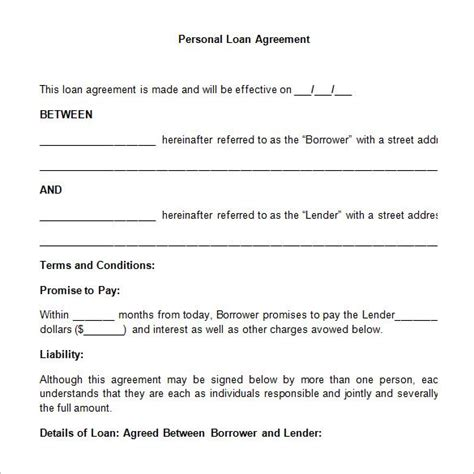 Free Loan Agreement Template by 26 Great Loan Agreement Template
