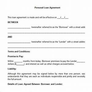 simple personal loan agreement template simple loan With no documentation personal loan