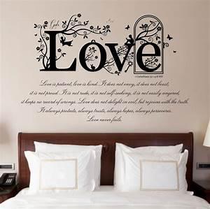 1 Corinthians 13 v 4-8 Bible Quote, Vinyl Wall Art