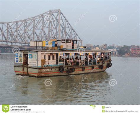 Boat Transport In India by Howrah Bridge And Kolkata Boat Transport Editorial Photo