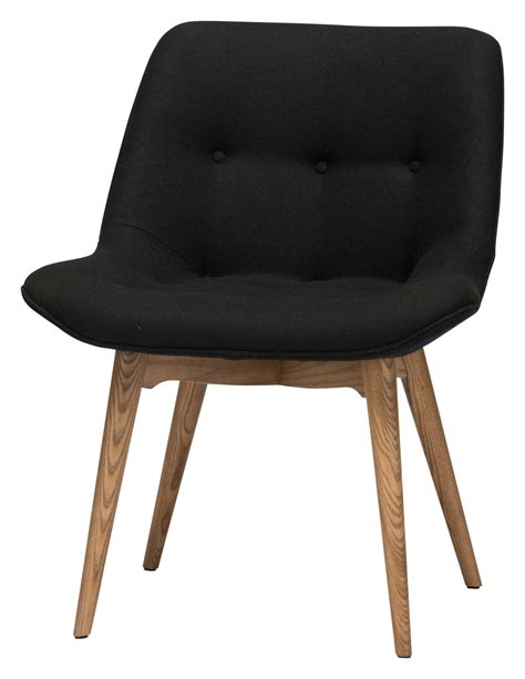 brie black fabric dining chair hgem643 nuevo