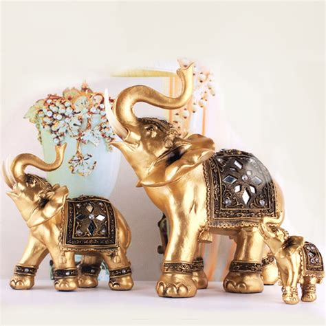 lucky colors christmas decor lifelike golden elephant exquisite soft resin ornaments decorations wedding gifts lucky