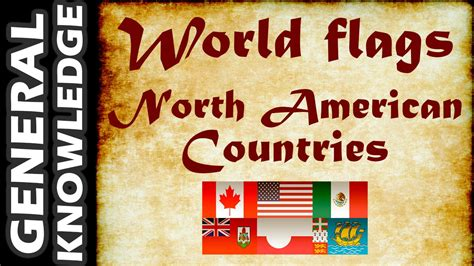 World Flags - North American Countries - YouTube