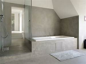 Mortex wall floor tiles mortex collection by beal for Salle de bain tadelakt beige