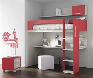 Lit Bureau Enfant : lit mezzanine une pi ce suppl mentaire cosy et intimiste ~ Teatrodelosmanantiales.com Idées de Décoration