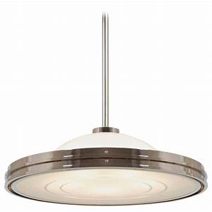 Art deco streamline ufo pendant light by gmd berlin