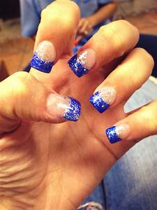 Royal blue tips with sparkles! | Make Up, Hair, & Nails ...