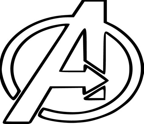 The Avengers Logo Coloring Pages Coloringstar