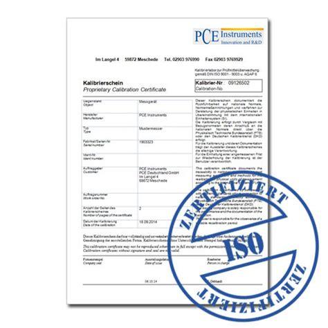 airflow lufttechnik gmbh certificado de calibraci 243 n iso pce instruments