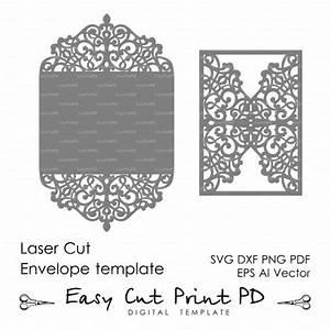 flourish wedding invitation pattern card 5x7quot template With laser cut wedding invitations download