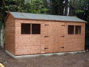 6 X 8 Pent Shed Plans by 16 X 8 Double Door Apex Garden Sheds In Essex East London