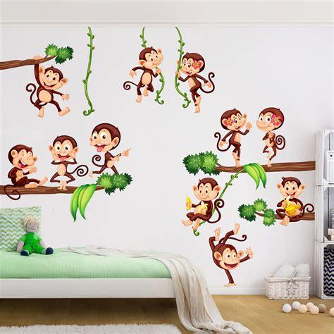 Wandtattoo Kinderzimmer Affen by Wandtattoo Kinderzimmer Affen Des Dschungels