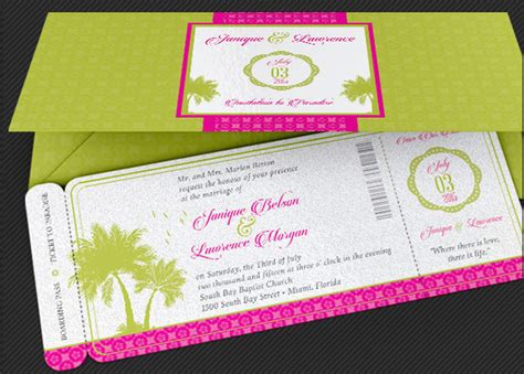 tropical stationery template tropical wedding stationery template set inspiks market
