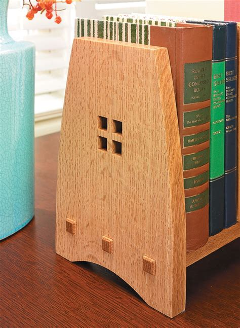 craftsman style book rack woodworking project