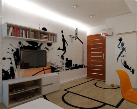basketball hoop for bedroom 20 sporty bedroom ideas with basketball theme home