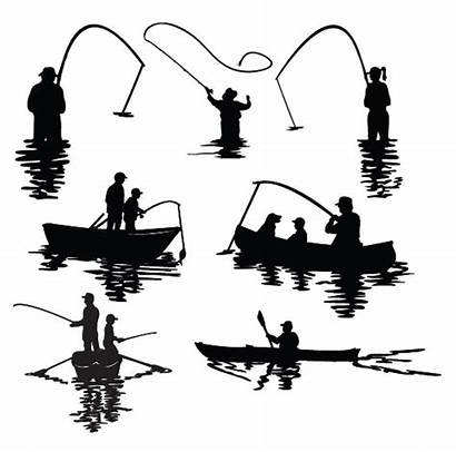 Silhouette Fishing Boat Fisherman Clip Fish Silhouettes