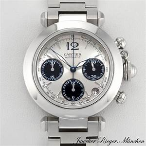 CARTIER UHR PASHA STAHL CHRONOGRAPH MEDIUM Damen