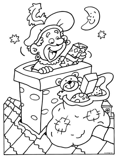 Kleurplaat Zwarte Piet Hoofd by Kleurplaat Zwarte Piet In De Schoorsteen Kleurplaten Nl