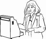 Cashier Clipart Clip Webstockreview sketch template