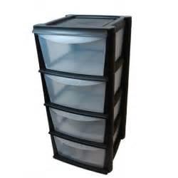 Tiroir Bureau Plastique unit 233 de rangement en plastique avec 4 tiroirs profonds
